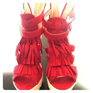 Shoes - Red one of a kind sandals